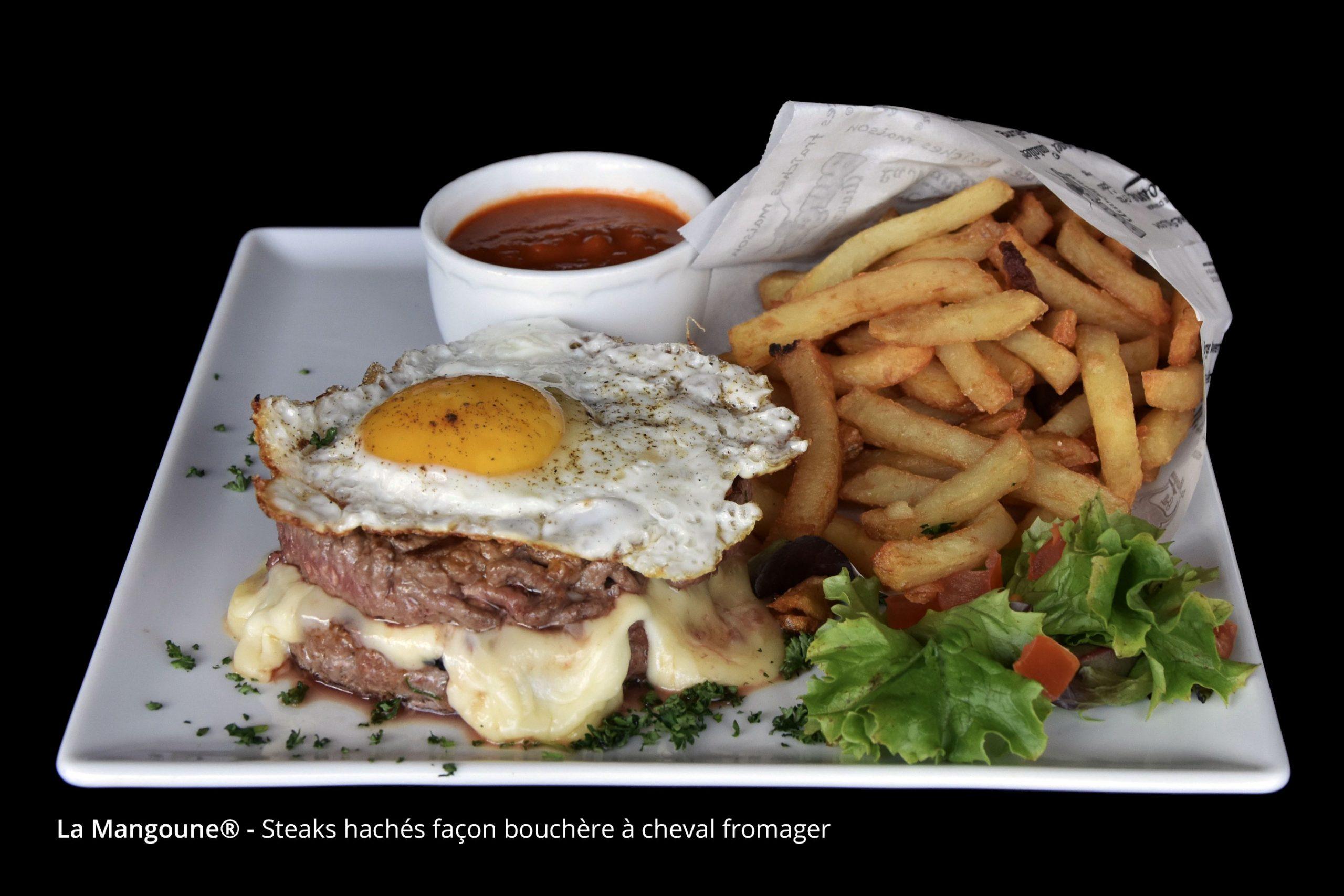 Steaks hachés façon bouchère à cheval fromager