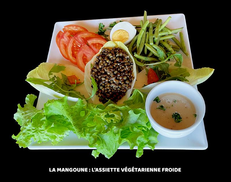 Assiette végétarienne froide